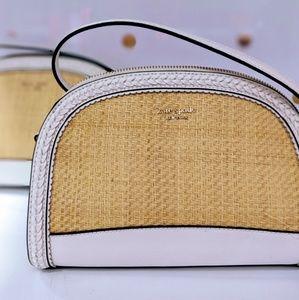 NEW Kate Spade Reiley Straw Dome Crossbody purse